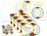 Jesus CD Greeting Card Set , 5 CD Christmas Cards
