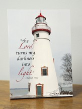 The Lord Turns My Darkness Into Light, Lighthouse Plaque