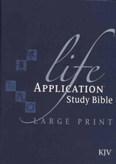 KJV Life Application Study Bible 2nd Edition, Large Print,  Hardcover, Thumb-Indexed