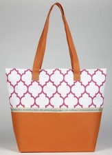 Hope Marrakesh Print Tote Bag, Orange and Pink