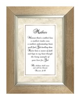 Mother, Proverbs 31:28, Framed Print, 7X9