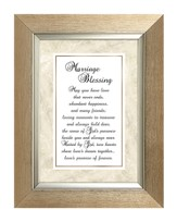 Marriage Blessing Framed Print, 7X9