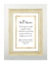 50 Years Together Framed Verse, Matthew 19:6, 7X9