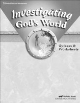 Abeka Investigating God's World Quizzes & Worksheets