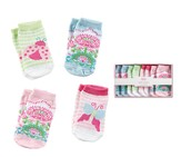 Butterfly & Ladybug Sock Set, 4 Pairs