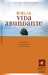Biblia Vida Abundante NTV, Enc. Rústica  (NTV Abundant Life Bible, Softcover) - Slightly Imperfect