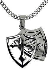 Armor of God Listed Shield Cross Necklace