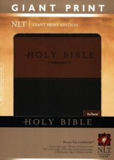 NLT Holy Bible, Giant Print TuTone Brown and Tan Imitation Leather, Thumb-Indexed