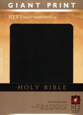 NLT Holy Bible, Giant Print Black Bonded Leather, Thumb-Indexed  - Slightly Imperfect