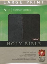 NLT Large Print Compact Edition, Black and Onyx Imitation Leather, Thumb-Indexed
