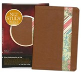 NLT Study Bible, TuTone Cinnamon and Quilt Imitation Leather
