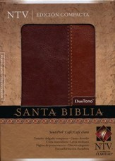 Biblia Compacta NTV, SentiPiel Café/Café Claro  (NTV Compact Bible, Imitation Leather Brown/Tan)