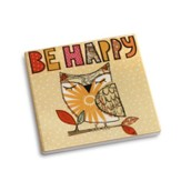 Be Happy Coaster and Greeting Card
