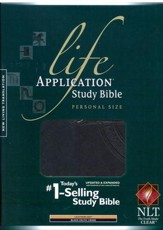 NLT Life Application Study Bible, Personal Size TuTone Leatherlike Black/Celtic Cross