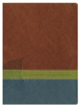 NLT Chronological Life Application Study Bible, Leatherlike Brown/Green/Dark Teal - Slightly Imperfect