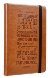 Steadfast Love, Tan Lux-Leather, Notepad