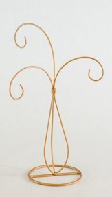 Ornament Stand, 3 Arms, Gold