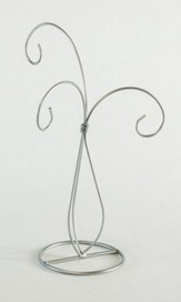 Ornament Stand, 3 Arms, Silver