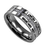 Christ My Strength, Crescent Women's Ring, Size 7 (Philippians 4:13)