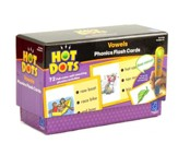 Hot Dots Phonics Flash Cards, Set 3: Vowels