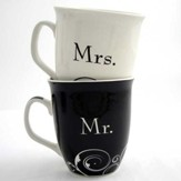 Mr. & Mrs. Mug Set, Marriage Takes Three