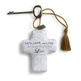 Faith, Hope and Love Artful Cross