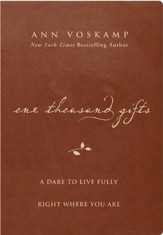 One Thousand Gifts: A Dare to Live Fully Right Where You Are--imitation leather, brown - Slightly Imperfect