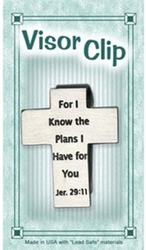 For I Know the Plans Visor Clip