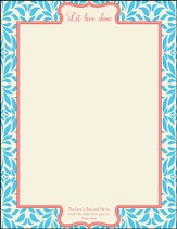Let Love Shine Stationery, Pack of 50