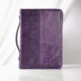 Faith is Being Sure Bible Cover, Purple, Medium