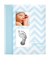 Chevron Baby Book, Blue