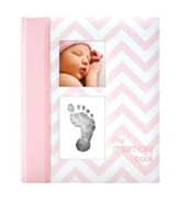 Chevron Baby Book, Pink