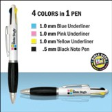 Bible Study Pen (four color inks) Non-carded -12 pack
