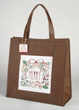 Merry Wreath Tote Bag