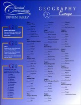 Trivium Table: Cycle 2 Geography (World and Europe Maps)