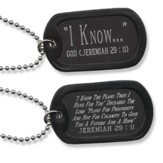 For I Know the Plans, Jeremiah 29:11 Tag, Black