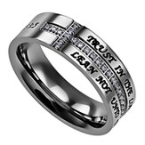 Trust, Crescent Women's Ring, Size 5 (Proverbs 3:5)
