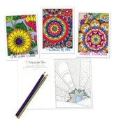 Colorful Moments Coloring Cards, Box of 12 Assorted All Occasion Cards (KJV)
