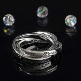 Love, Purity, Trust Triple Band Ring, Size 5