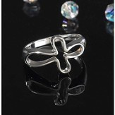 Horizontal Open Cross Ring, Size 6