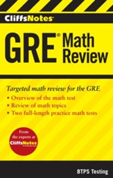 CliffsNotes GRE Math Review
