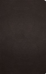 ESV Thinline Bible--buffalo leather,  brown