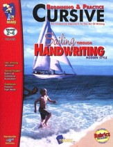 Beginning & Practice Cursive: Sailing Through Handwriting, Modern Style