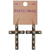 Copper Crosses Earrings