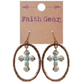 Oval Crosses Earrings