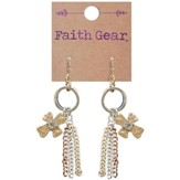 Tassel Crosses Earrings