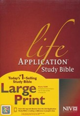 NIV Life Application Study Bible 2nd Edition, Large  Print, Hardcover Indexed