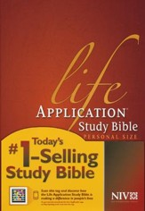 NIV Life Application Study Bible Personal Size Softcover - Slightly Imperfect