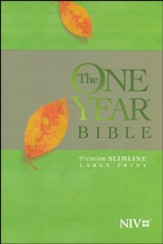 The One Year Bible NIV, Premium  Slimline Large Print edition