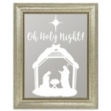 Oh Holy Night, Manger Scene, Mirror